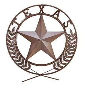 Gifts & Decor Texas Lone Star State Hanging Western Theme Wall Plaque