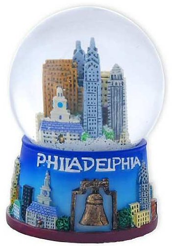 Philadelphia Snow Globe - 65MM, Philadelphia Snow Globes, Philadelphia Souvenirs, Philadelphia Gifts
