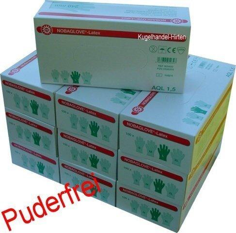 Nobaglove Glatt Latexhandschuhe Gr. XL Puderfrei 1000 Stück (10 x 100 Stück) jetzt bestellen