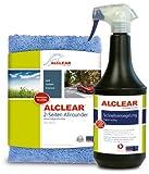 ALCLEAR 71100SV Schnellversiegelung 1 Liter inklusive ALCLEAR Poliertuch 2-Seiten Allrounder 40 x 40 cm für Auto, Motorrad, Fahrrad