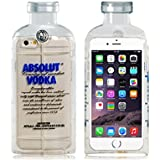 ABSOLUT VODKA Design TPU Rubber Shell Case for 4.7'' iPhone 6 (Transparent)