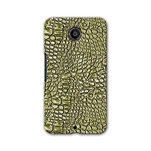 ArtzFolio Alligator Hide : Google Nexus 6 Matte Polycarbonate Original Branded Mobile Phone Designer Hard Shockproof Protective Back Case Cover Protector