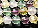【 福縁閣 】【 水晶ミックス 】 12mm 1連(約38cm)[R1039] 天然石 パワーストーン ビーズ