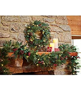 Lighted Berry Garland