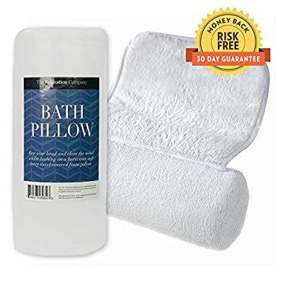 Luxury Bath Pillow for Bathtub with Ultimate Neck Support, Designed for Extreme Comfort, Non-Slip Suction Caps