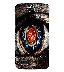 ColourCraft Creative Eye Design Back Case Cover for HUAWEI HONOR HOLLY