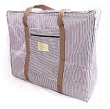 選べる オシャレ かわいい トラベル ボストン バッグ 旅行 カバン に 乗せて 使える キャリー オン バック (ブラウン(大))