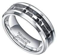 8mm Tungsten Carbide Rings with Cardi…