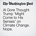 Al Gore Thought Trump 'Might Come to His Senses' on Climate Change. Nope. | Amy B Wang