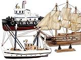 Produktbild von Playtastic Schiff - Bausatz Holz, 3er - Set, Kutter