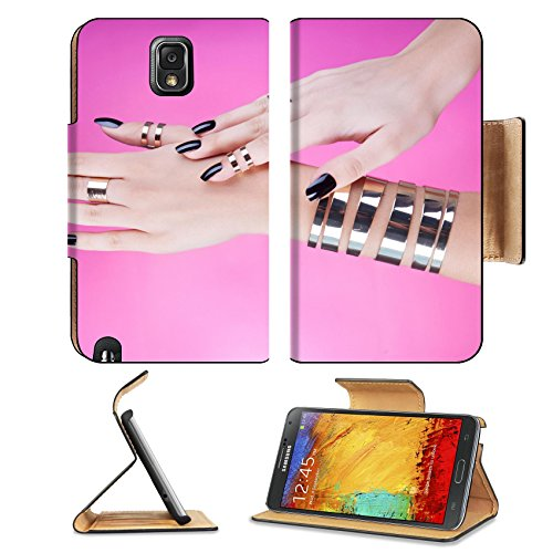 msd-premium-samsung-galaxy-note-3-flip-pu-leather-wallet-case-woman-with-black-manicure-wearing-gold