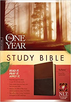 The One Year Study Bible Nlt Tutone Tyndale border=