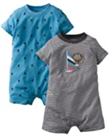 Carters Baby Boys 2-Pack Jersey Rompers