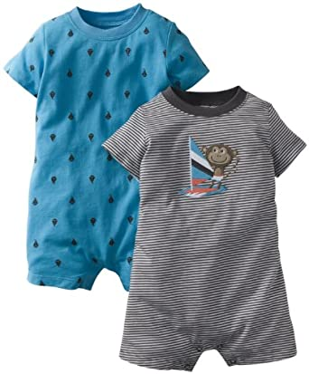 Carter's 2 Pack Rompers (Baby) - Sailboat-NB