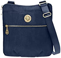 Baggallini Hanover Travel Crossbody Bag Gold Hardware, Pacific, One Size