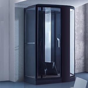 dampfdusche pisa schwarz dampf dusche duschkabine dampfbad duschtempel duschkabinett. Black Bedroom Furniture Sets. Home Design Ideas