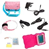Ultimate Addons UK Girls Deluxe Bundle for vTech InnoTab 2, including bag, case, mains adapter, car adapter, 5 metre extender, headphones and screen protectors