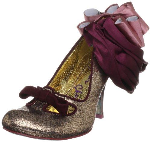 Irregular Choice Women's Candy Floss Gold/Pink Mary Janes 3921-9A 5 UK, 38 EU