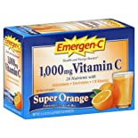 Emergen-C Flavored Fizzy Drink Mix, Super Orange, 30 ct.