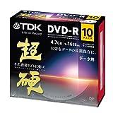 TDK データ用DVD-R 16倍速対応 ホワイトワイドプリンタブル 超硬シリーズ 10枚パック DR47HCPWC10A