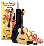 Alfreds Kids Acoustic Guitar Course, Complete Starter Pack (Acoustic Guitar, Accessories, Lesson Book, CD, DVD, Interactive Software, Carrying Case, Tuner, Picks)