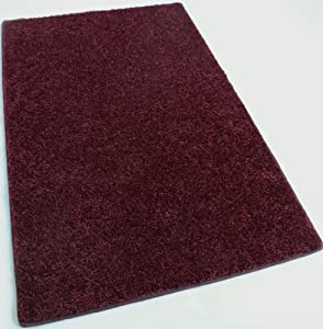 "8'X11' OVAL Area Rug Carpet. ROYAL BURGANDY RED Thick, Soft & Plush 30 oz. ½"" Thick. MULTIPLE SIZES, SHAPES and Brilliant Bold Colors. A Medium Density, Long Lasting Durable 100% Polyester fiber. Home area rugs, runner, rectangle, square, oval and round."