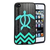 img - for Hawaiian Turtle Honu On Dark Wood Rubber Custom Durable Fashionable Perfect Design High Quality TPU Silicone Case Cover Skin angelinajuli Rubber iPhone 5 5s book / textbook / text book