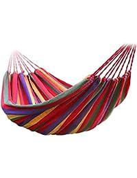 Portable Outdoor Hammock Garden Sports Home Travel Camping Swing Canvas Stripe Hang Bed Hammock 190 X 80cm