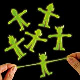 Glow in the Dark Stretchy Aliens - Pack of 6