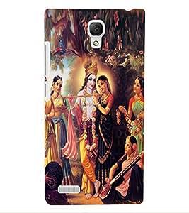 ColourCraft Radha Krishan Design Back Case Cover for XIAOMI REDMI NOTE 4G