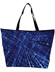 Snoogg Blue Grid Abstract Designer Waterproof Bag Made Of High Strength Nylon