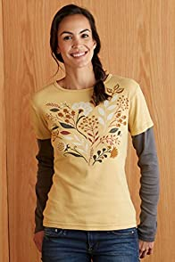 Green 3 Apparel Layered Look Fall Foliage Made in USA Organic Tee