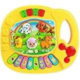 Coromose Baby Kids Musical Educational Animal Farm Piano Music Toy Yellow