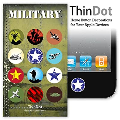 ThinDot Home Button Stickers for iPhone, iPad, iPod &quot;Military&quot;