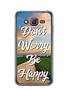 YuBingo Don't Worry. Be Happy Designer Mobile Case Back Cover for Samsung Galaxy J5