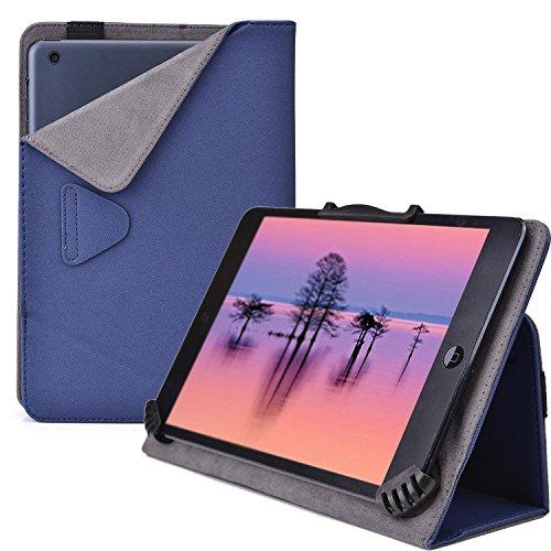 Cooper Cases (TM) Infinite Cam Universelle Foliohülle für Lenovo Miix 2 8 / Tab S8-50 in Blau (universelle Passform, integrierte Standfunktion, elastisches Band als Hüllenverschluss)