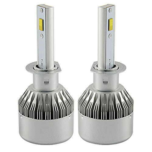 LASFIT 72W H1 LED Headlight Kit Bulbs 7600LM 6000K - Philips LED Chip/Internal Driver Ballast - 2 Yr Warranty (H1 Led Headlight Bulbs 50w compare prices)