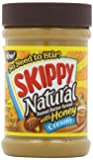 Skippy Creamy Peanut Butter, Natural with Honey, 15-Ounce Jars (Pack of 6)