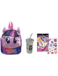 "My Little Pony Backpack, Tumbler & Temporary Tattoo Sheet ""ON THE GO"" Sparkling Backpack Can Fit Some Snacks &..."