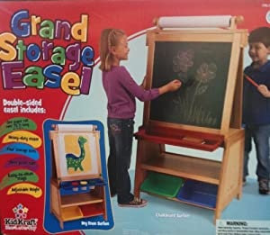 Amazon Com Kidkraft Grand Storage Double Sided Easel W
