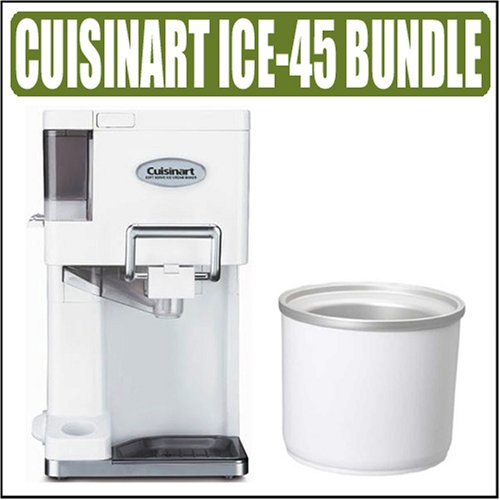 Cuisinart ICE45 White Soft Serve Ice Cream Maker + Express Bundle Bundle