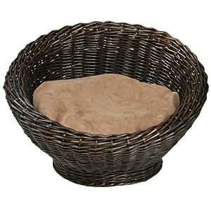 panier lit avec coussin pour chat ou petit chien 56 x 37 cm lit de qualit animalerie. Black Bedroom Furniture Sets. Home Design Ideas
