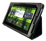 Deluxe Black Leather Case Cover For BlackBerry Playbook