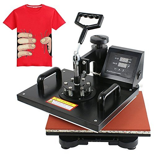 Smartxchoices Pro 6 in 1 T Shirt Mugs Hat Plates Sublimation Digital Heat Press Transfer Machine (15