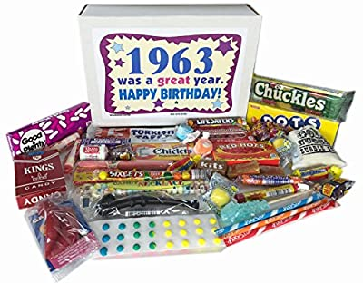 1963 53rd Birthday Gift Basket Box Jr Retro Nostalgic Candy Born '60s