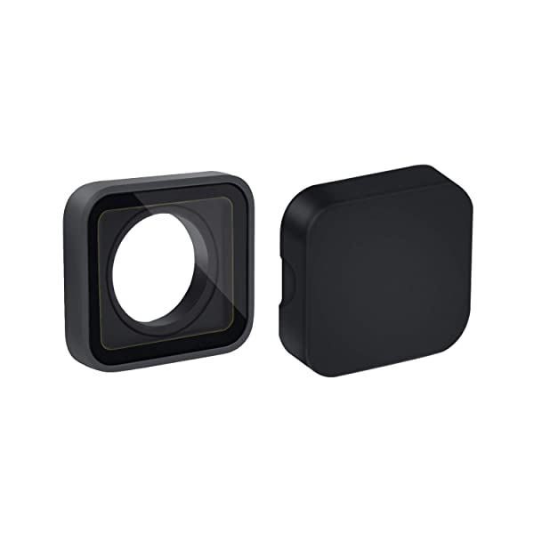 Protective Camera Lens Cover Glass Replacement Part for GoPro Hero 7/6/5 Black with Lens Cap (Color: Black)