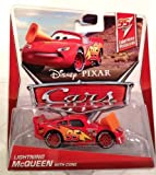 Disney Pixar Cars LIGHTNING MCQUEEN with CONE (Lightning McQueen Series, #3 of 5)
