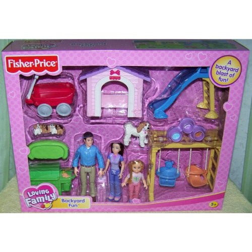 Fisher Price Loving Family Dollhouse Backyard Fun Playset