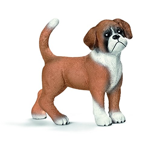 Schleich Puppy Boxer Toy Figure - 1