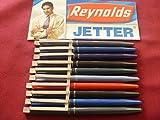 10 Reynolds Jetter Retractable Click Ball Pen Blue Ballpoint Pen Brand ADD By Indian Cricketer Sachin Tendulkar